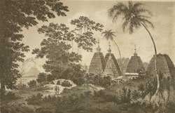 A View of the Pagodas at Deogar(019XZZ000000744U00022000)